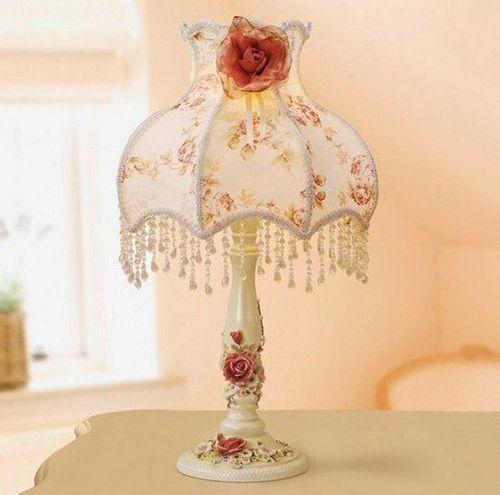 时尚公主蕾丝台灯装扮浪漫卧室尽在不言中